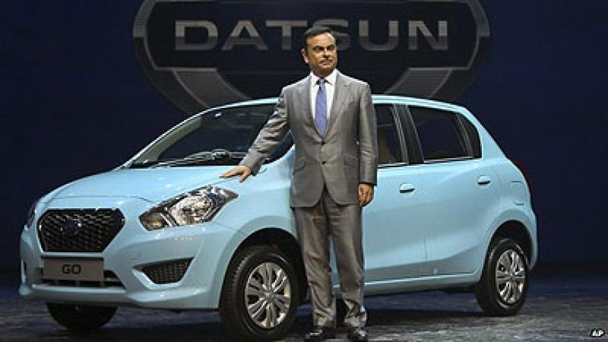 Nissan's Carlos Ghosn explains why the Datsun is being reborn at a launch event in New Delhi. Net photo