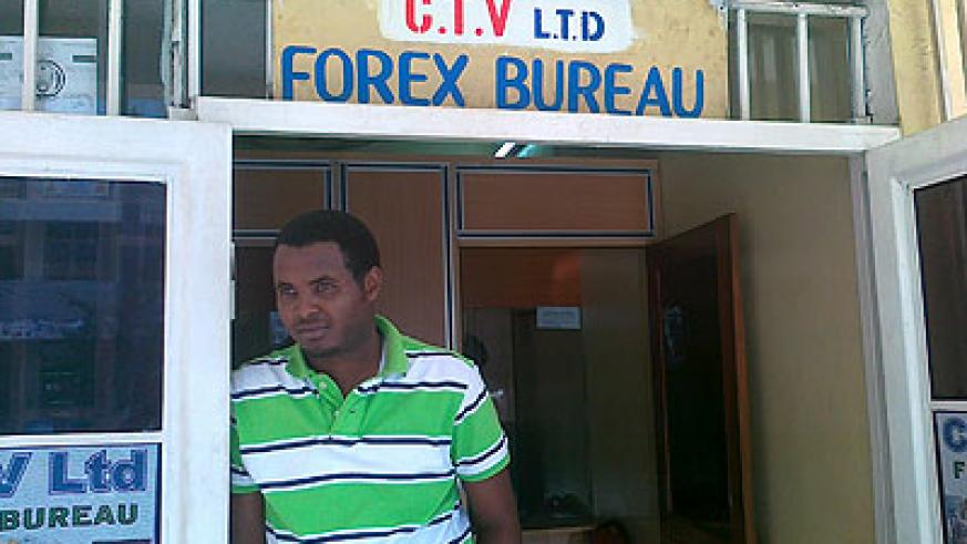 Low business. Forex bureau operators claim commercial banks have not sold them dollars for a whole week.  The New Times / Peterson Tumwebaze