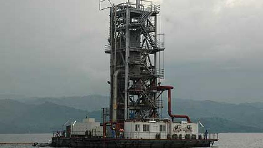 The Methane Gas Plant in Lake Kivu. The New Times/ File