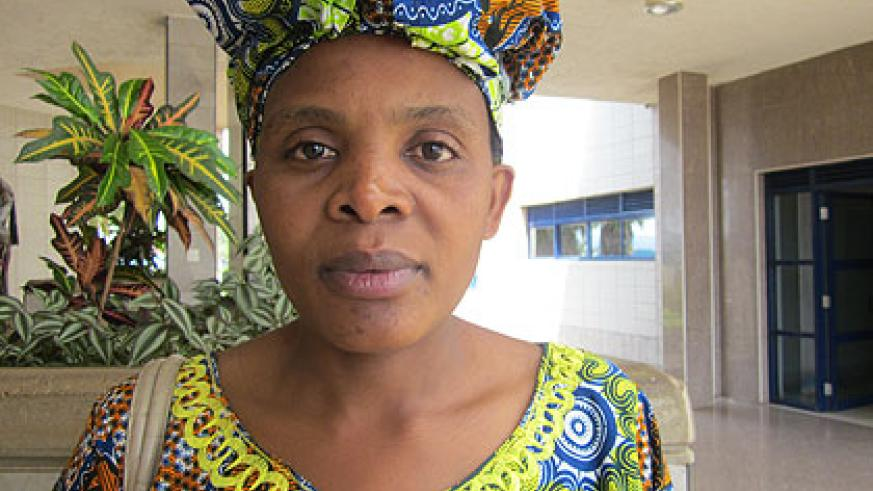 MP hopeful Nyiranzeyimana says fighting poverty at the grassroots is one of the issues she seeks to address.   The New Times/ Eugene Kwibuka