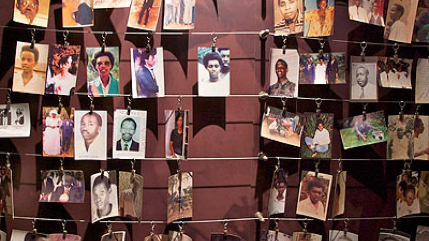 Photos of  some of the victims of the 1994 Genocide against the Tutsi at the Kigali Genocide Memorial Centre. The New  Times / File.