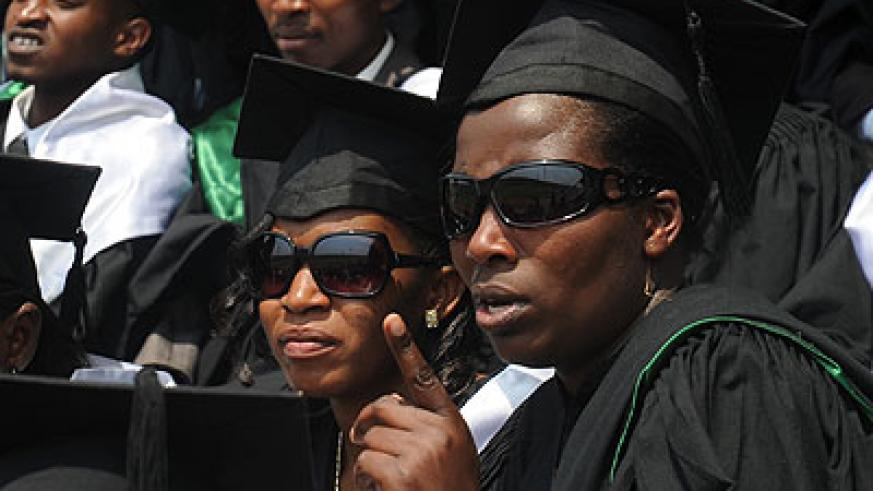 KIE graduates during a recent graduation ceremony. Scholars say genders studies need to be nurtured to grow as a discipline. The New Times/John Mbanda