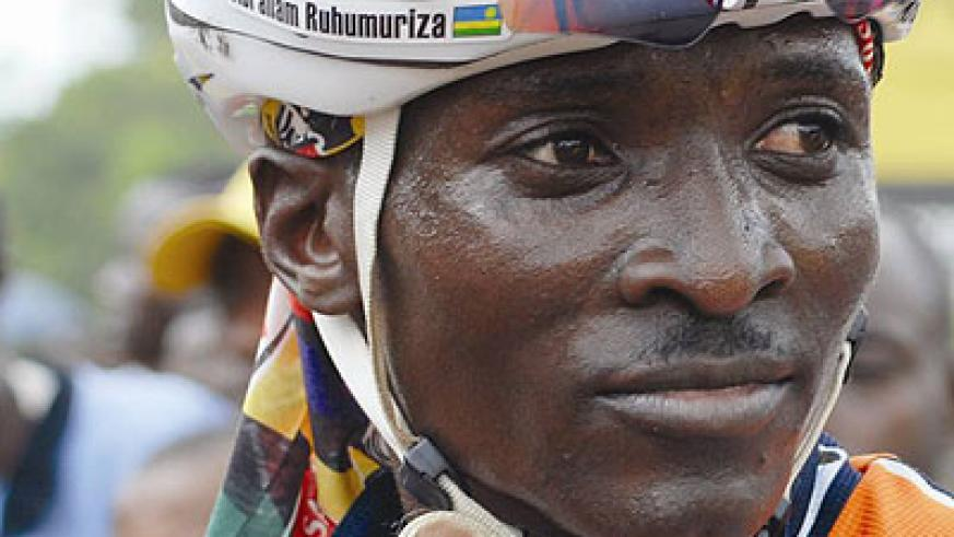Abraham Ruhumuriza is Team Rwanda's most experienced rider. Times Sport/File