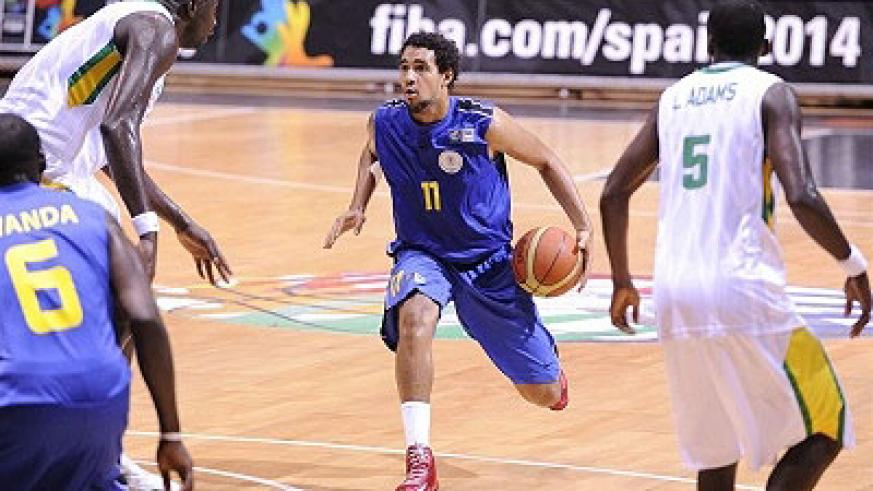 Rwanda's foward Cameron Bradley (#11) in action against Senegal in the eighth round game. Times Sport / Courtesy.