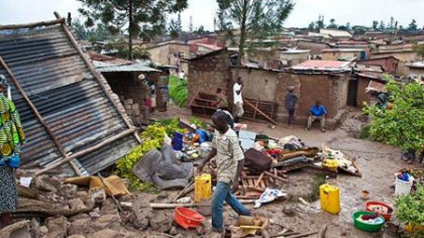 The Rwanda Housing Authority is making an inventory of the slums situation in the country. The New Times/Timothy Kisambira.