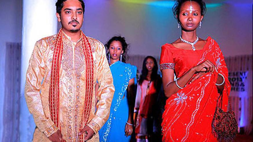 Indian deigns were showcased at the gala event.