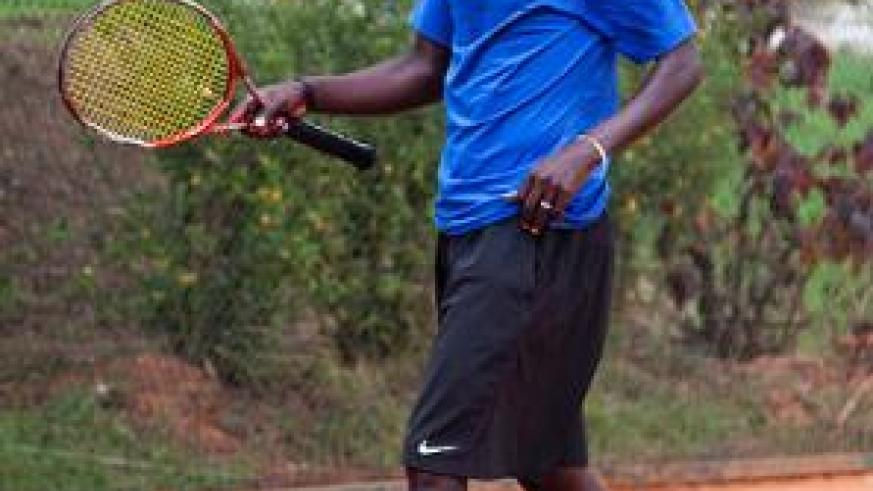 Habiyambere was happy to win inaugural Nyarutarama Open title but unhappy in the manner he won after his opponent, Gasigwa retired injured.  Times Sport / File.