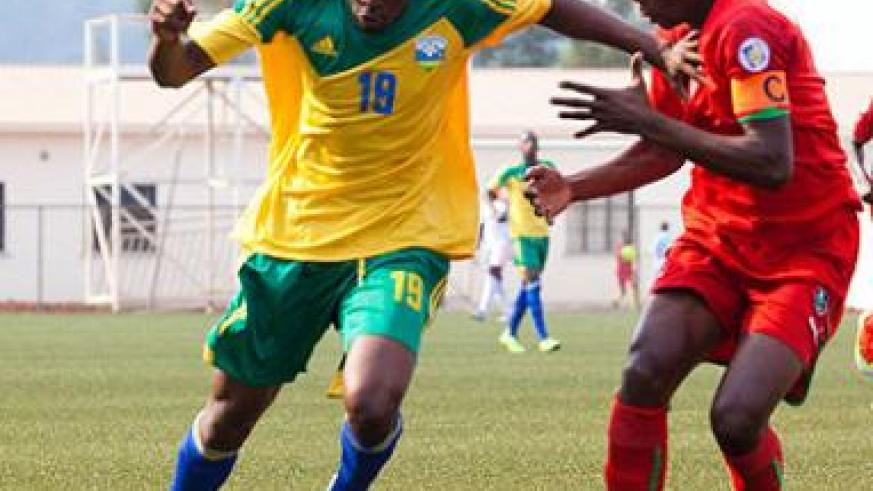 Jacques Tuyisenge in action for Amavubi against Malawi during last month's friendly at Stade de Kigali. Times Sport/T. Kisambira.