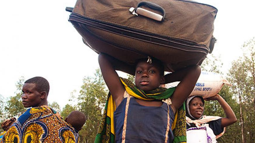 More returnees arrived on Sunday bringing the total number of those evicted by Tanzania to more than 7,000.  The New Times/ Timothy Kisambira.