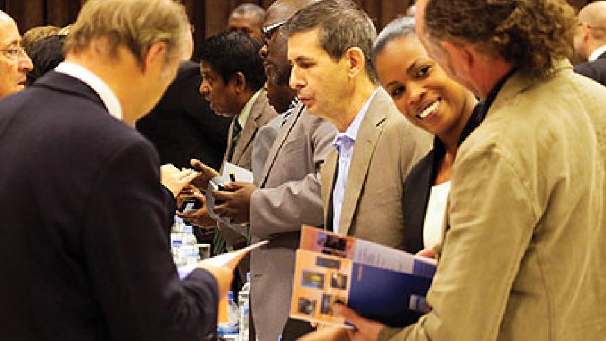 Visiting French investors meet local ones in Kigali. The New Times/T. Kisambira