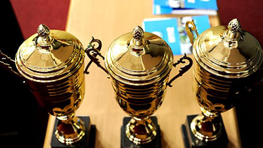 The trophies that will be won by best performing districts. Kamonyi, Kicukiro, and Karongi were the best performing districts in the last fiscal year.   Saturday Times/Village Urugwiro.