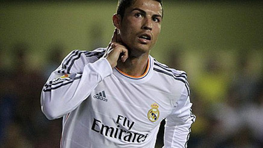 Ronaldo scored Real's second goal against Villarreal on Saturday night in a 2-2 draw. Net photo.