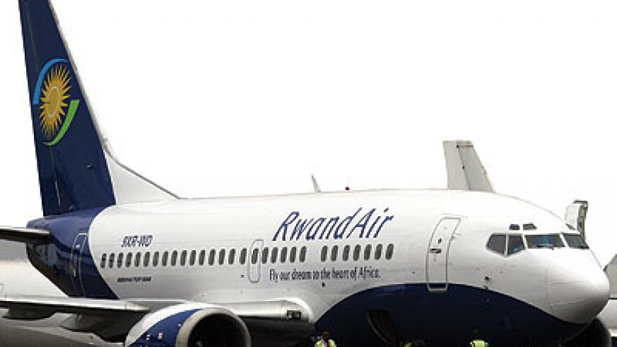 Rwanda's national carrier, RwandAir. Experts have warned against big investment in aviation sector. The New Times / File
