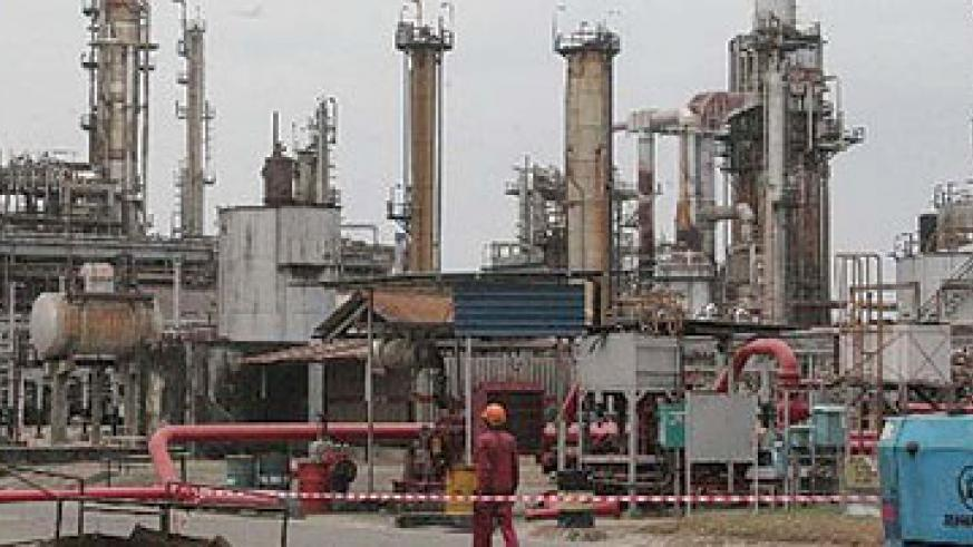 Kenya's refinery at Mombasa. Uganda plans to develop a refinery with capacity to produce 60,000 bpd.  Net