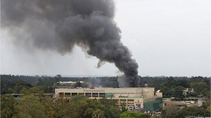 Sporadic gunfire reported as a security operation continues to clear militants from the Westgate shopping centre. Net photo.