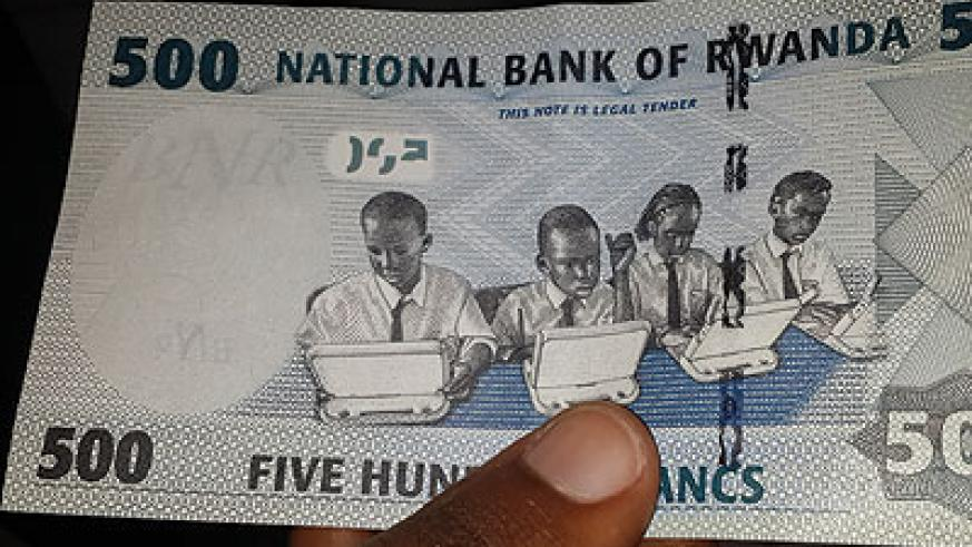 The new look of the Rwf500 note. The New Times/Ben Gasore