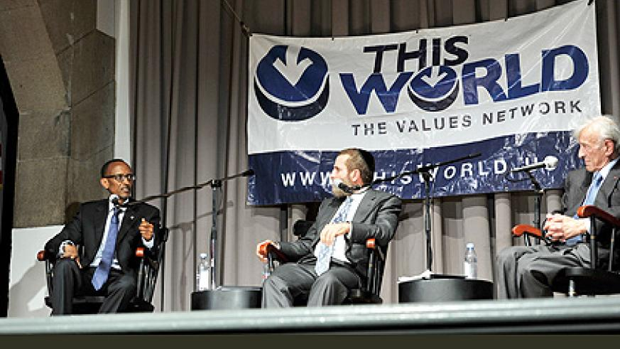 A conversation with Elie Wiesel and Rabbi Shmuley- 29 September 2013. The New Times/Village Urugwiro