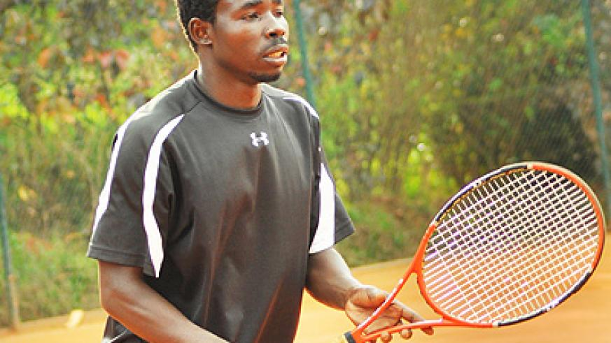 Mathieu Uwizeyimana (pictured) and Anatole Bizimana lost their doubles rubber yesterday to end Rwanda's hopes in the ITF tourney. Times Sport/Plaisir Muzogeye