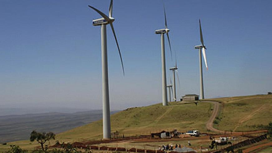 A small wind farm in northern Kenya. The country has embarked on Africa's largest wind power project. Net photo