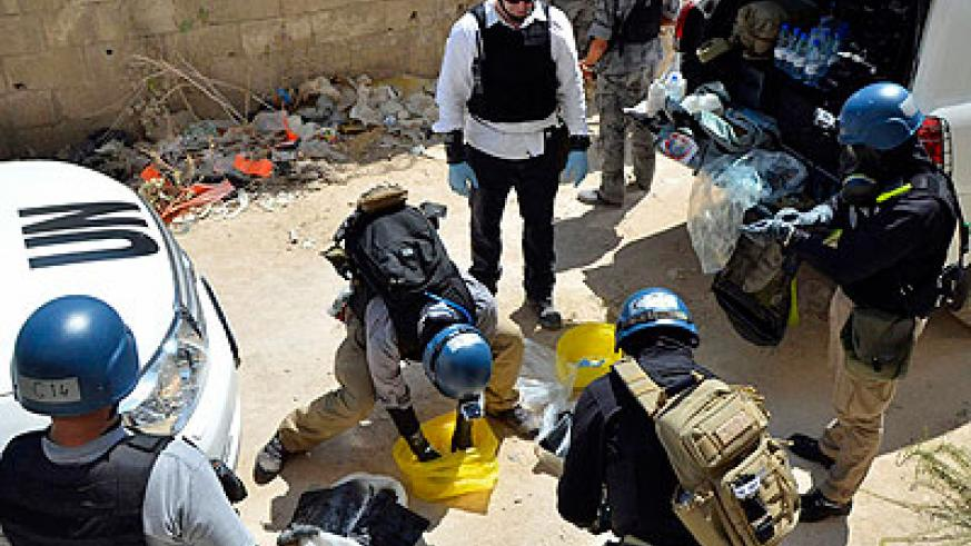 The OPCW has said dismantling Syria's arsenal is 'realistic' given the current level of support. Net photo.
