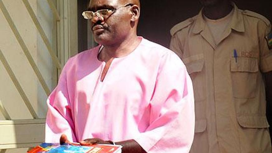 Jean Uwinkindi leaves court after a past appearance. The New Times/File