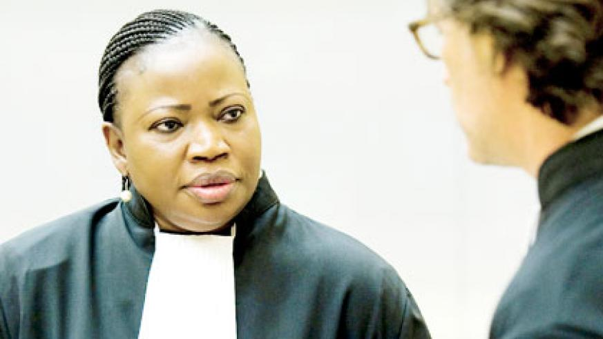 Prosecutor Fatou Bensouda (L) faces an uphill task of keeping up with ICC push on African continent. Net photo.