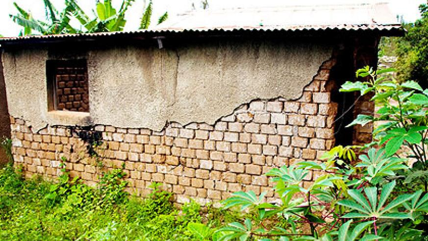 A dilapidated house belonging to an elderly survivor of the Genocide. The New Times/ Timothy Kisambira.