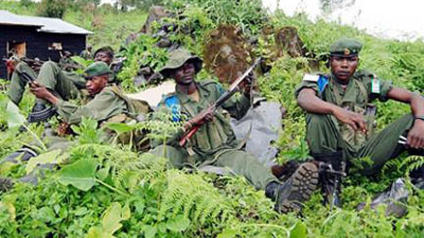 Angolan soldiers during a 2008 mission in Congo in this file photo. Post-conflict Angola spends a significant part of its budget on its army. Net photo.
