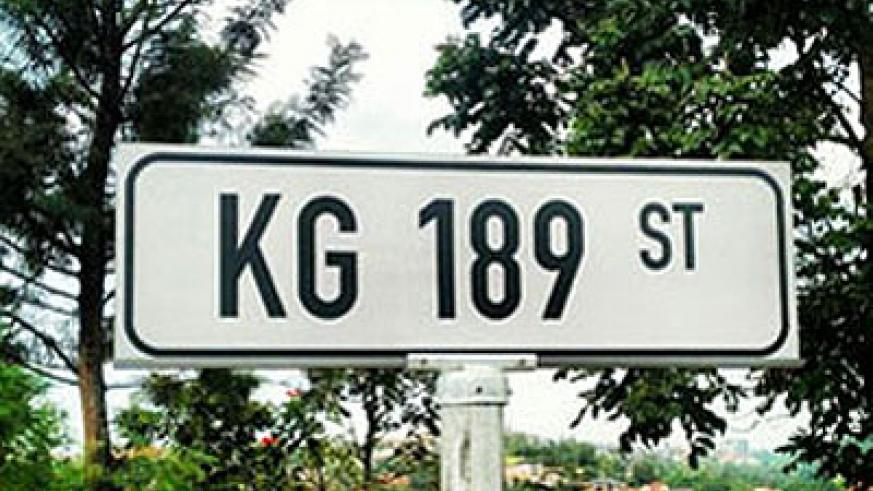 One of the street signs in Kigali. Net photo.