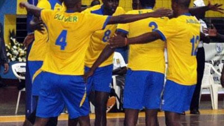Rwanda players celebrate during Zone V World Cup qualifiers. Sunday Sports/Peter Kamasa
