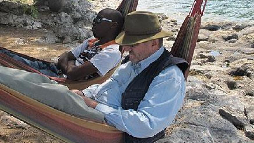 These two relax in Gisenyi. The New Times/Timothy Kisambira