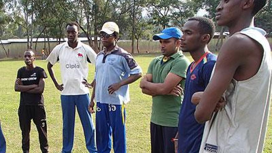 National cricket team players during a training session this week. Sunday Sport/Courtesy