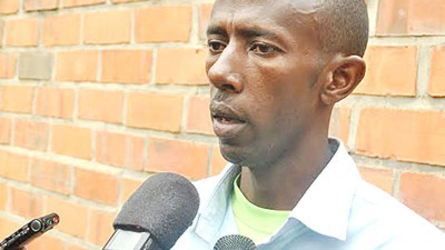 Oustazi talks to the media in Kigali yesterday. The New Times/ Courtesy.