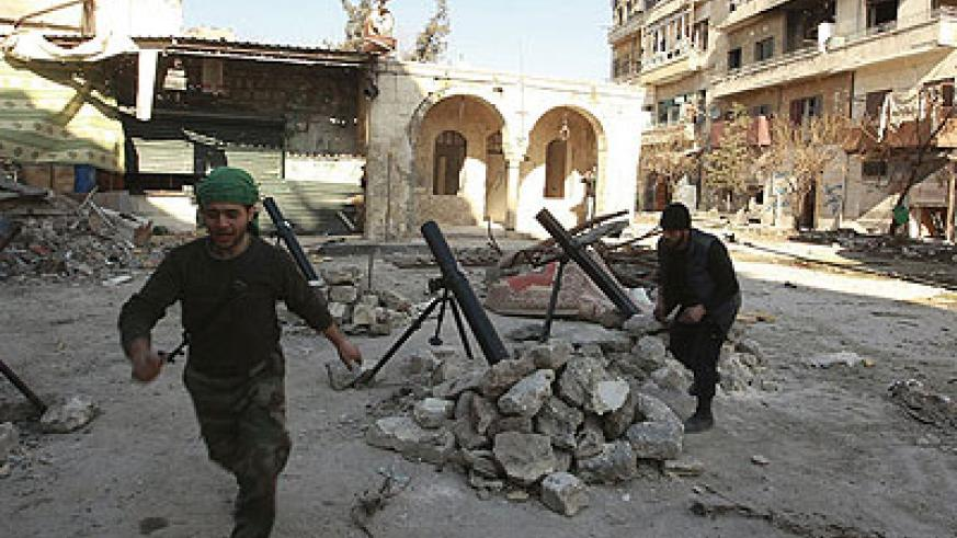 Rebels in Aleppo declared a push to seize the city's central prison and a military air base to the east . Net photo.