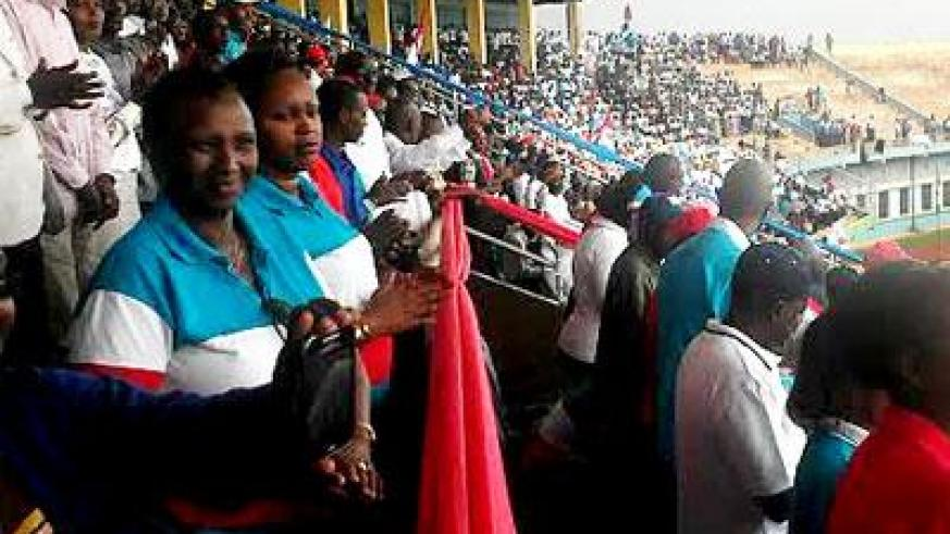 RPF members of Gasabo District during the meeting at the stadium. Courtesy
