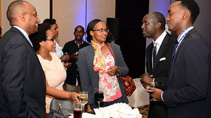 Some of the Rwandan investors present at the launch of the company.
