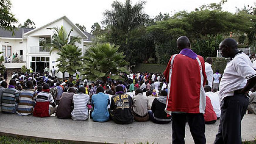 People at Kigali Genocide memorial during a past  commemoration event.  File.