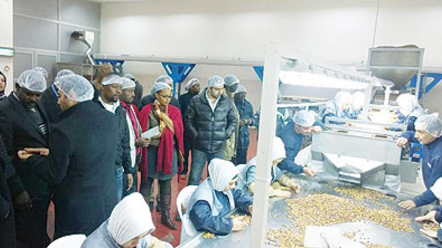 Rwandan delegates tour an agro factory in Gazaintep, Turkey. Peterson Tumwebaze.