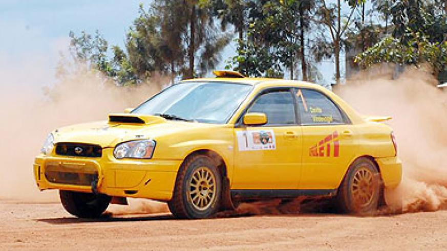 National Rally Championship defending champion Davite Giancarlo, seen competing lasts season, is favourite to win the opening round. File photo.
