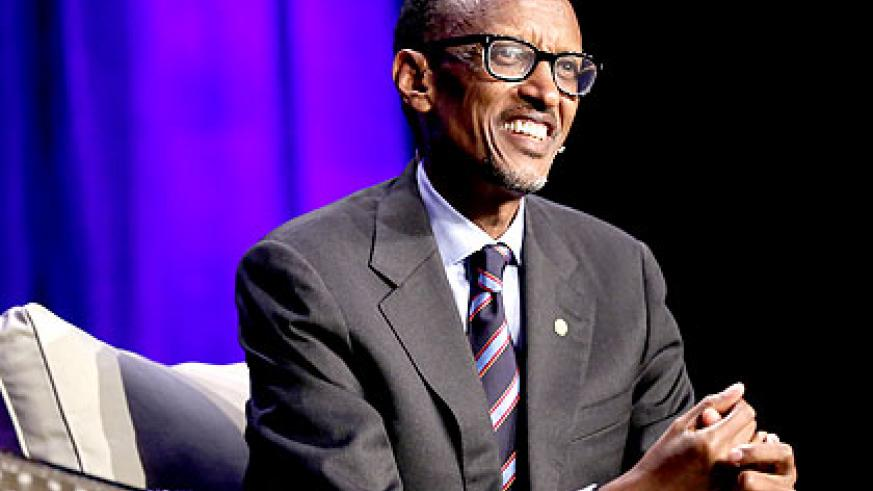 President Kagame speaks at the Wisdom 2.0 Conference in California, United States on Friday. Village Urugwiro