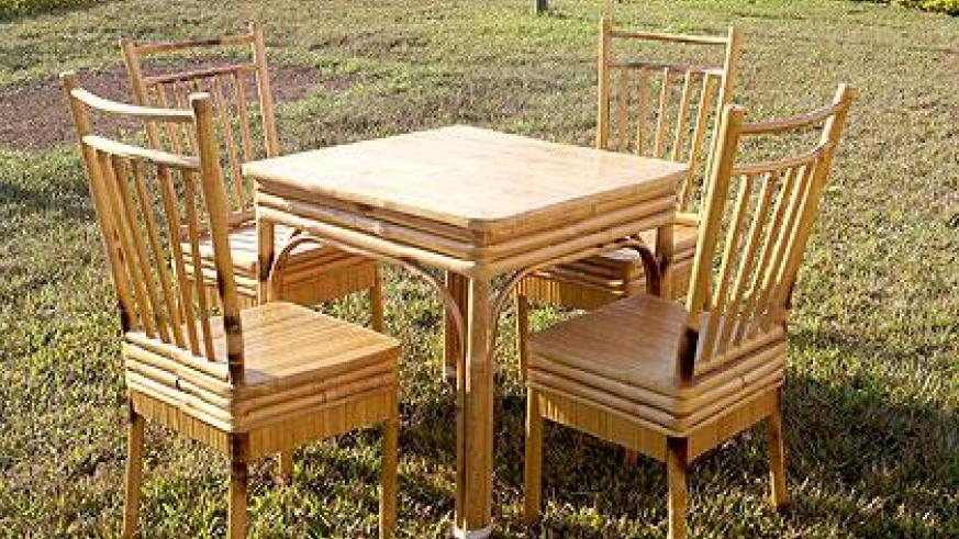 Bamboo dining set. Moses Opobo
