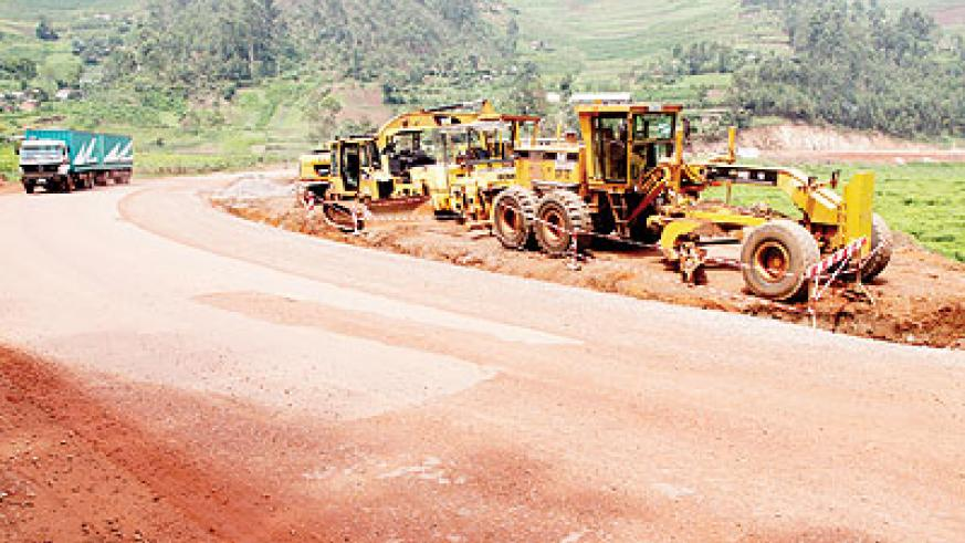 The Gatuna road which is under construction. The road is expected to boost trade in the region as well as facilitate the intergration process John Mbanda.