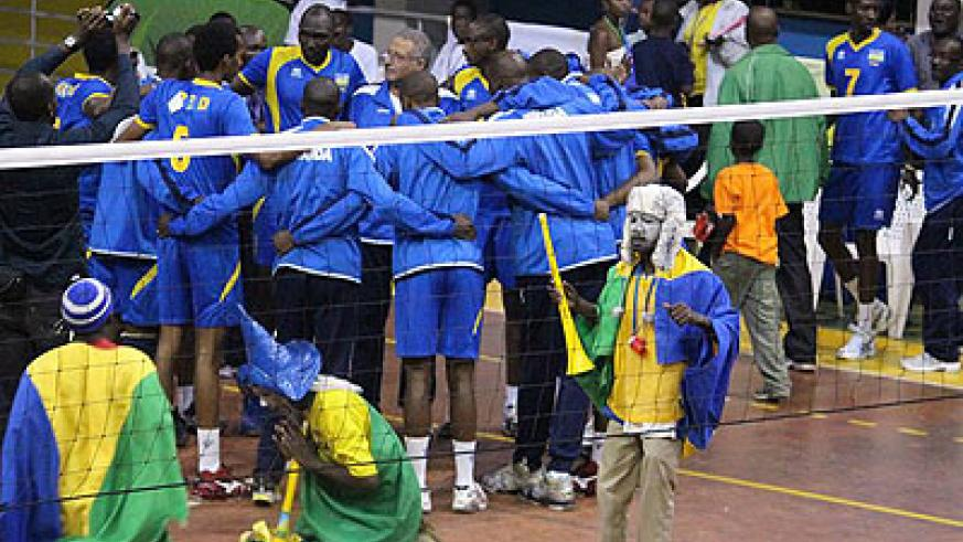 Rwanda men's volleyball team failed to qualify for the World Championship due in Poland later this year after finishing third in Cameroon