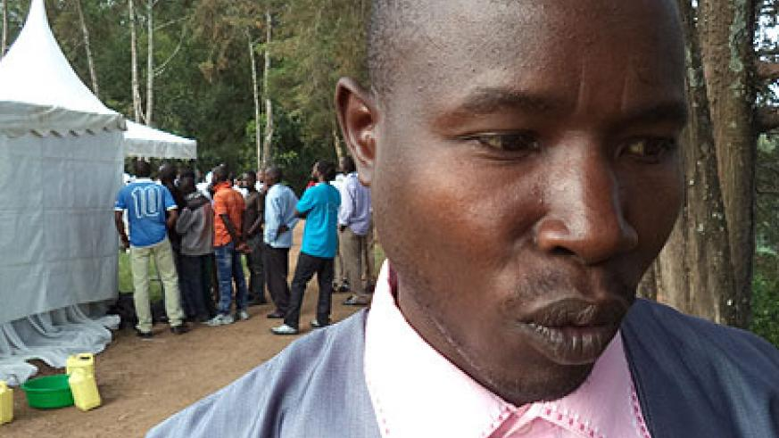 Mukeshimana spoke of his acts and subsequent nightmares at the Kwibuka Flame stop in Muhanga on Feb 13. Jean-Pierre Bucyensenge