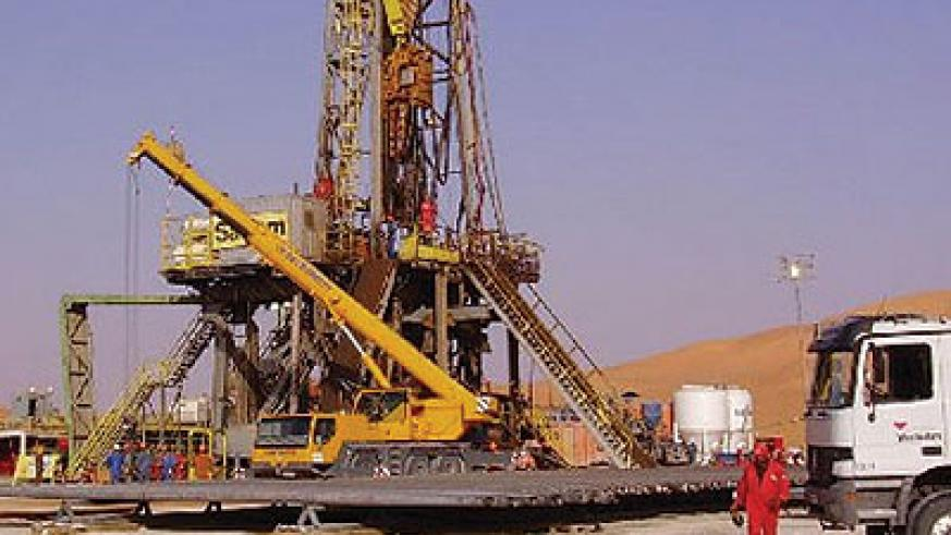 An oil rig in northern Kenya. Tullow will start exploring for oil in Kisumu.  Net photo