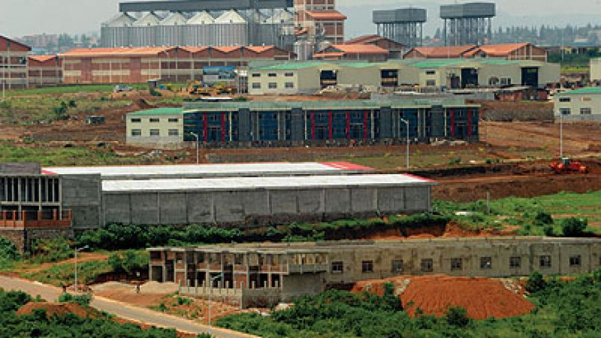 An aerial view of the Kigali Special Economic Zone in Kicukiro. Deadline for first phase relocation is today.  The New Times / File