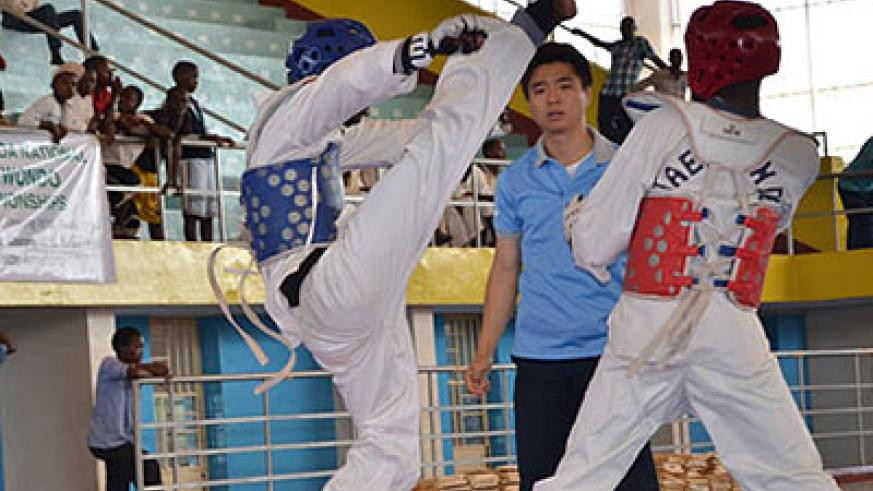 Taekwondo is one of the fastest growing sport in Rwanda. File