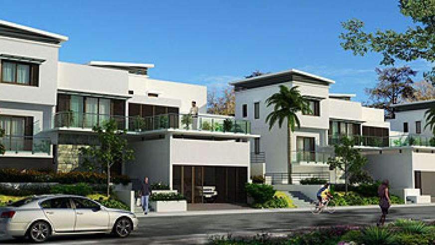 The artistic impression of the housing units at the planned Vision City estate in Gaculiro, an upscale Kigali neighbourhood. Courtesy.