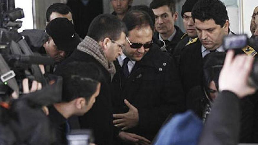 Baris Guler (in sunglasses) was among those released after the necessary evidence had been collected. Net photo.