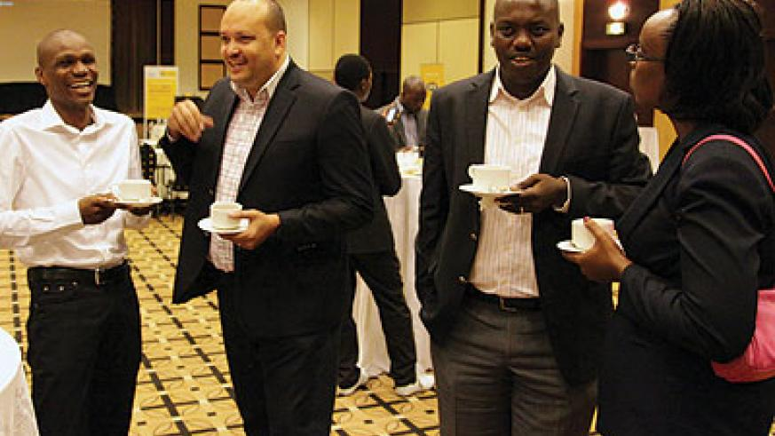 Some of the corporates who attended the launch of the campaign.  The New Times / John Mbanda